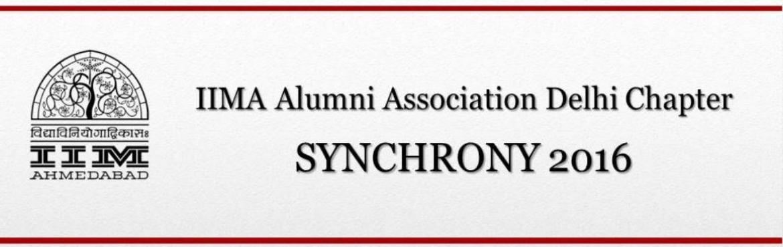 IIMA Alumni Association - Synchrony 2016