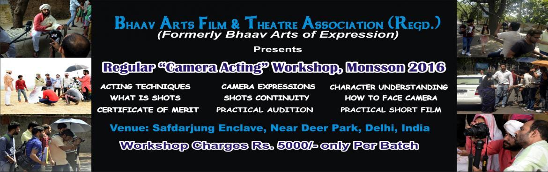 Regular Camera Acting Workshop, Monsoon 2016