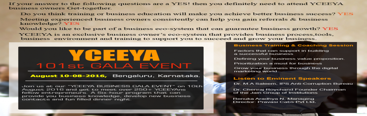 YCEEYA six hour power packed business programme exclusively for Business owners