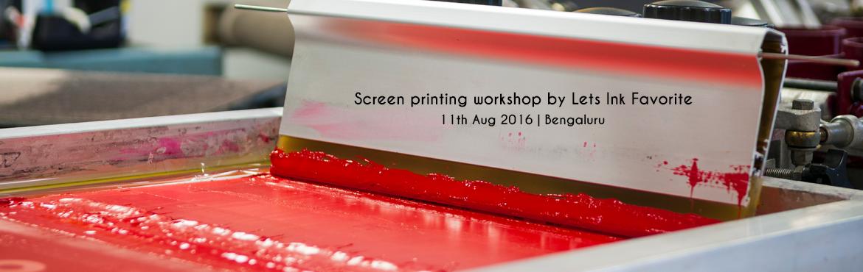 Screen printing workshop by Lets Ink  Favorite