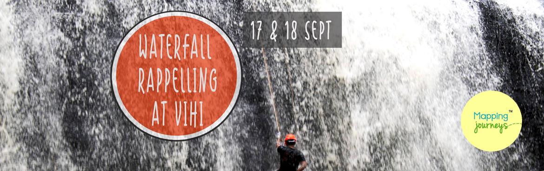 Waterfall Rappelling at Vihigaon Ashoka waterfall