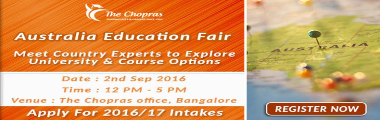 The Chopras Announced - Australia Education Fair 2016 in Bangalore