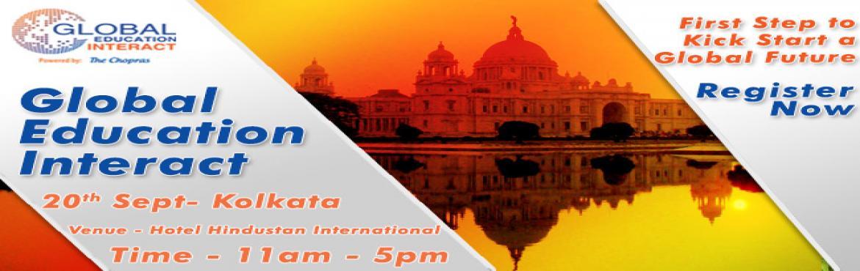 Highly interactive GLobal Education Fair 2016 in Kolkata