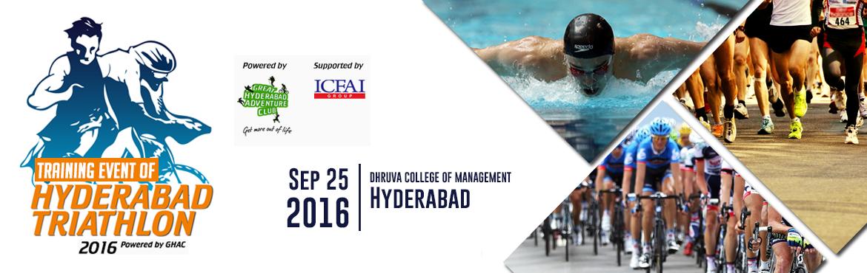 Training Event for Hyderabad Triathlon -2016  (Main Event is scheduled on 23-Oct-2016)