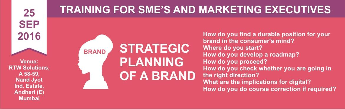 One Day Workshop on Strategic Planning of a Brand