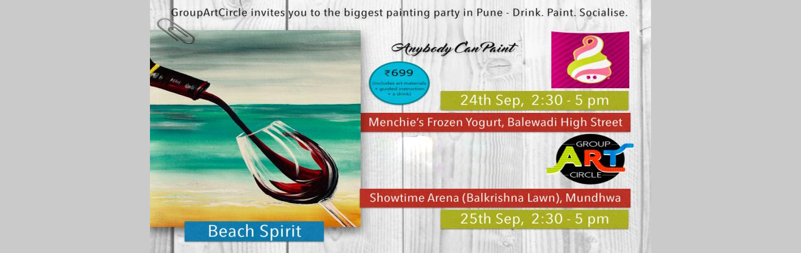 Paint and discover what you are missing, meet people and drink and paint.