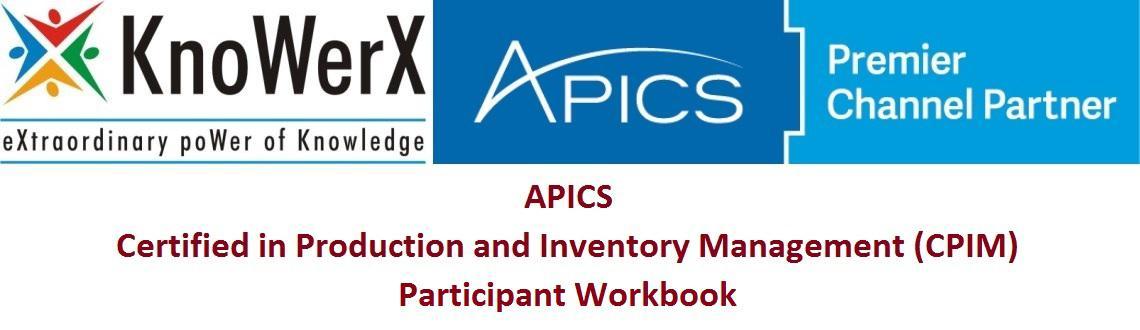 APICS CPIM Participant Workbook