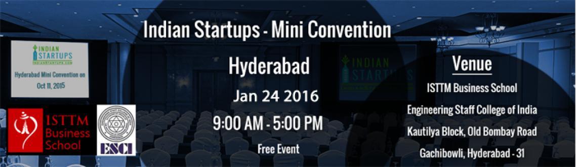 Indian Startups - Mini Convention - Hyderabad-Jan2016