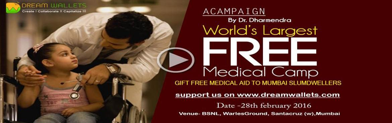 Worlds Largest Free Medical Camp - Gift Free Medical AID to Mumbai Slum Dwellers