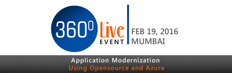 360 Live Event: Application Modernization using Open Source  Azure