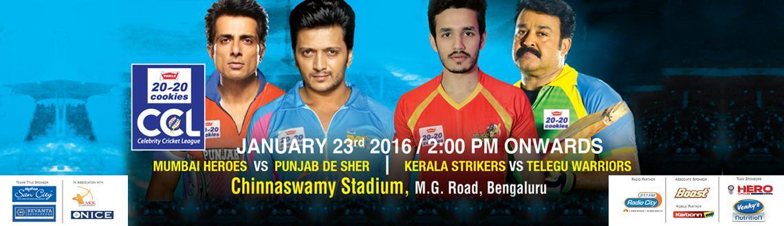 CCL6 - Mumbai Heroes vs Punjab De Sher AND Kerala Strikers vs Telugu Warriors