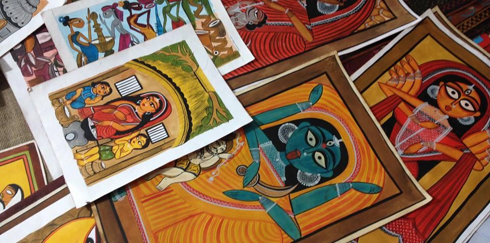 Bengal Paintings Workshops by Patua Artist Suman Chitrakar