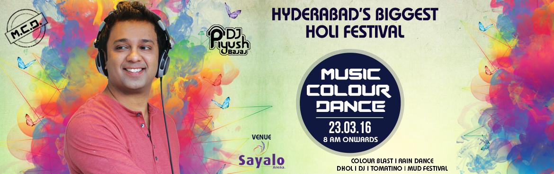 MUSIC COLOUR DANCE ( M C D ) HOLI FESTIVAL at Sayalo