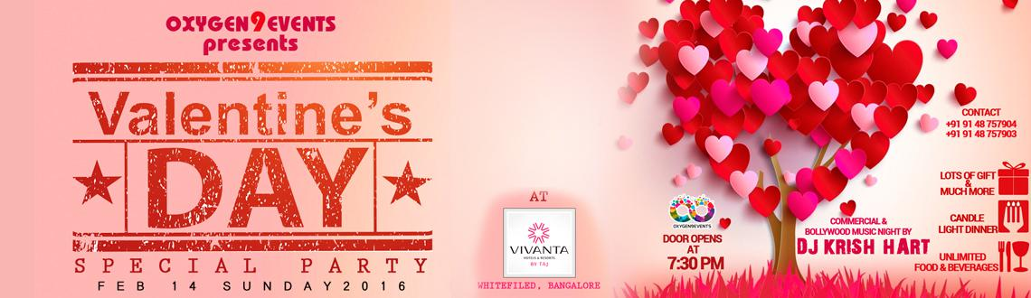 Valentines day Special at Tease lawn, Vivanta by Taj, Whitefield