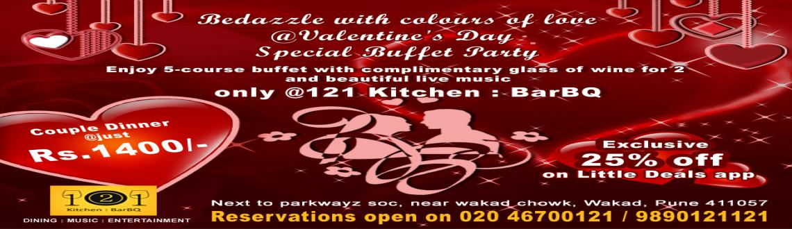 Valentines Day Party in Wakad @121 Kitchen : BarBQ, Pune