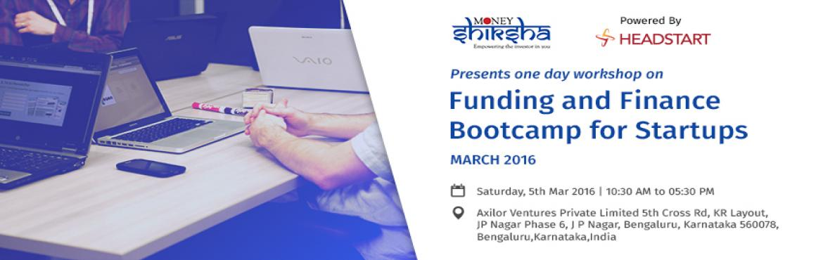 FUNDING AND FINANCE BOOTCAMP FOR START-UPS