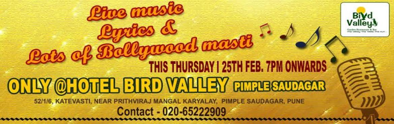 Live music events in Pimple Saudagar @Hotel Bird Valley