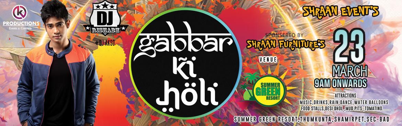 Gabbar Ki Holi - Hyderabad Biggest Holi Festival at Summer Green Resort