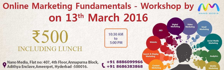 Online Marketing Fundamentals, Workshop by NANO MEDIA