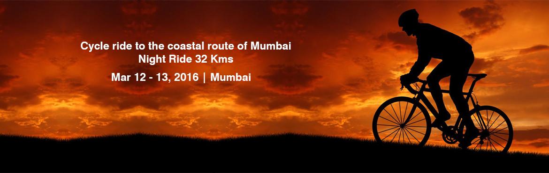Cycle ride to the coastal route of Mumbai:- Night Ride 32 Kms