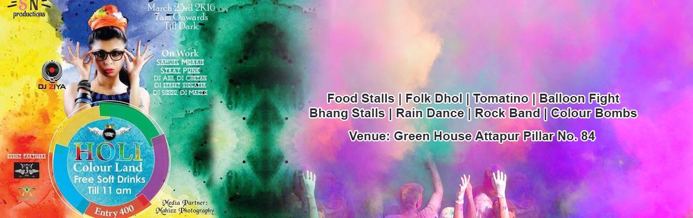 Holi Colour Land 2016 at - Green House, Attapur