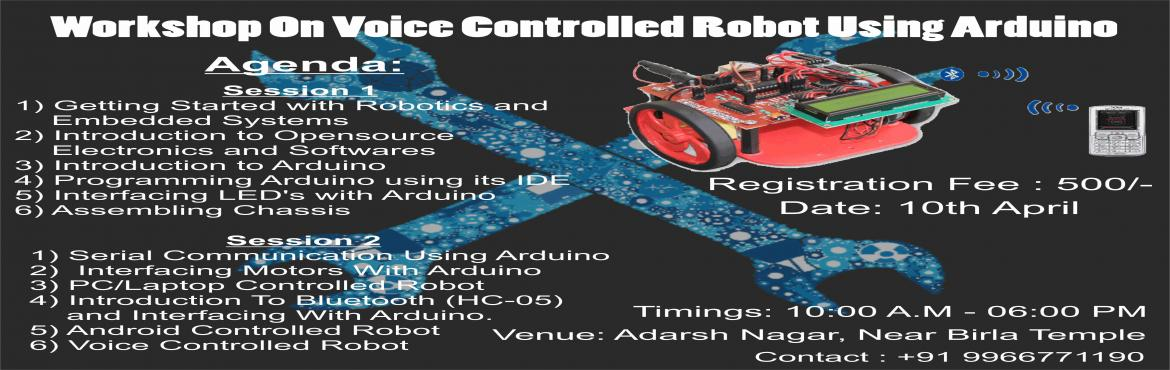 Workshop On Voice Controlled Robot Using Arduino