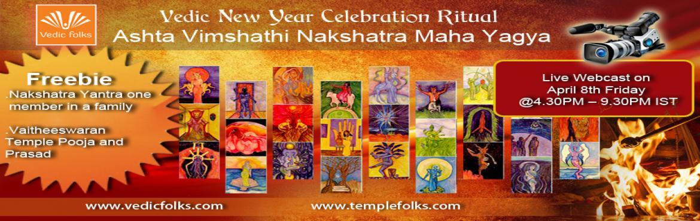 Vedic New Year Celebration Ritual - Ashta Vimshathi Nakshatra Maha Yagya