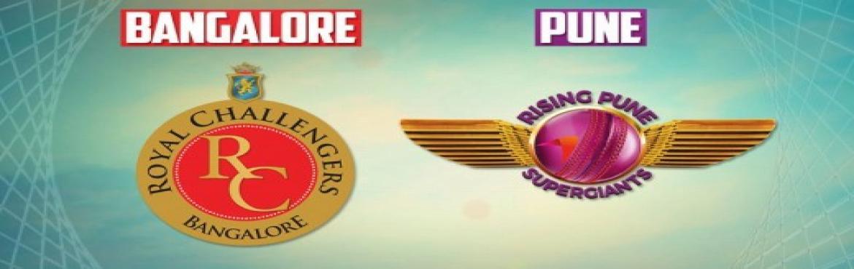 Rising SuperGiants Pune vs Royal Challengers Banglore