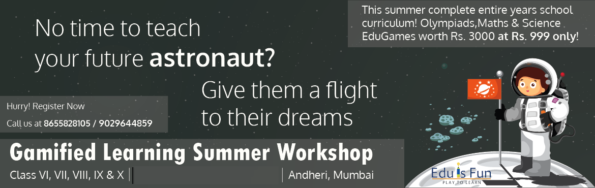 Gamified Learning Summer Workshop (grade 6 to 9)