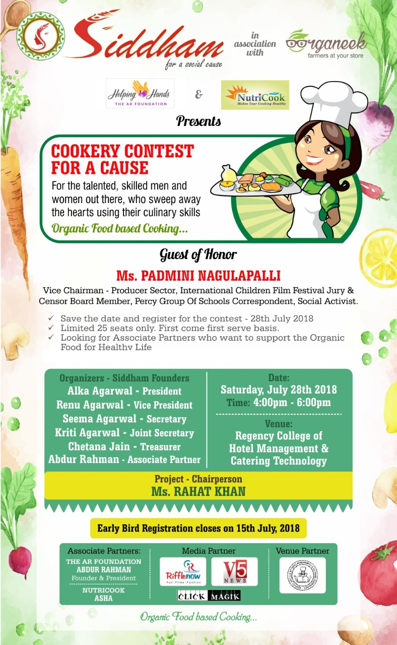 Organic cookery contest for a healthy lifestyle - Hyderabad | MeraEvents com