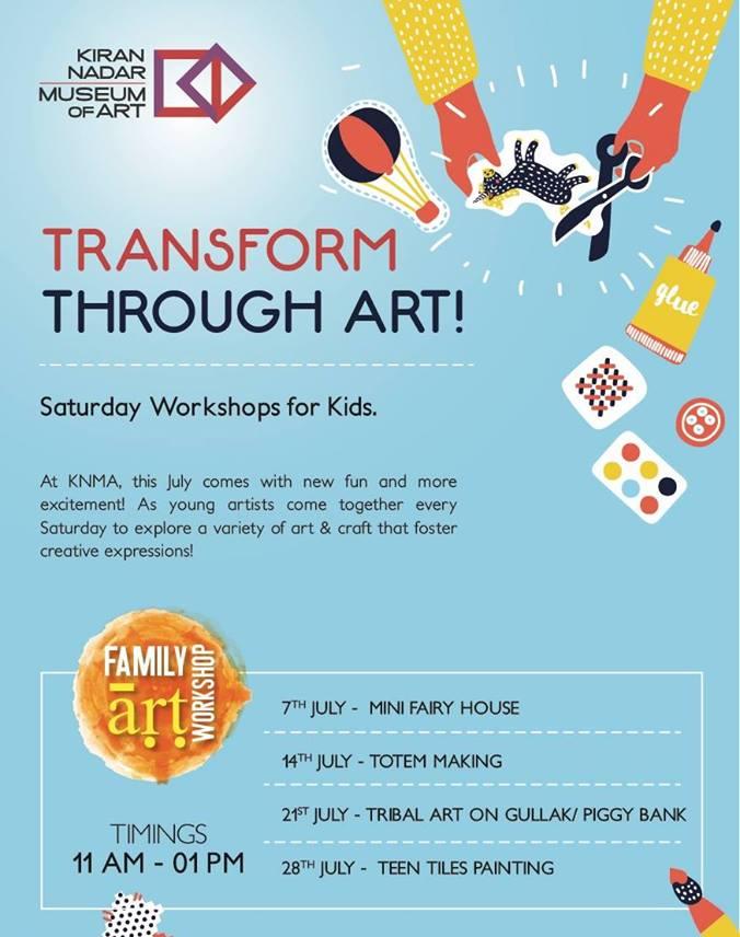 Saturday Workshops for Kids at KNMA Saket, Delhi - New Delhi