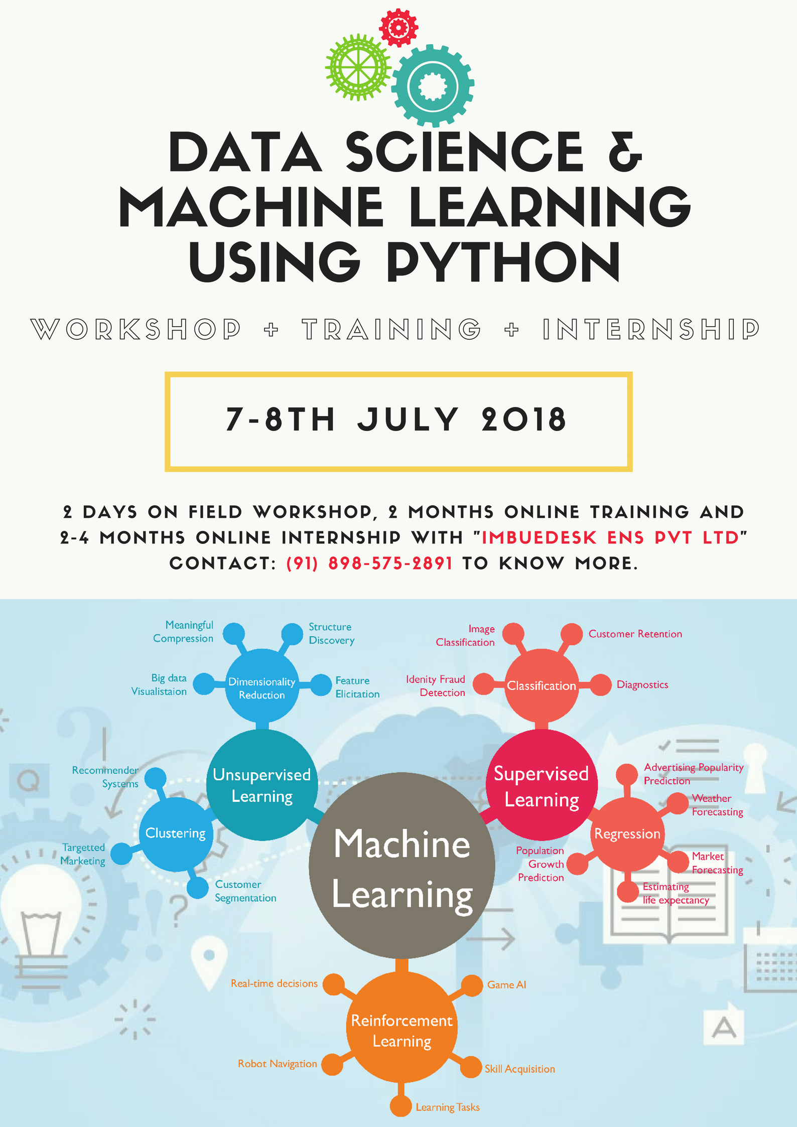 INTERNSHIP + TRAINING + WORKSHOP on DATA SCIENCE, MACHINE