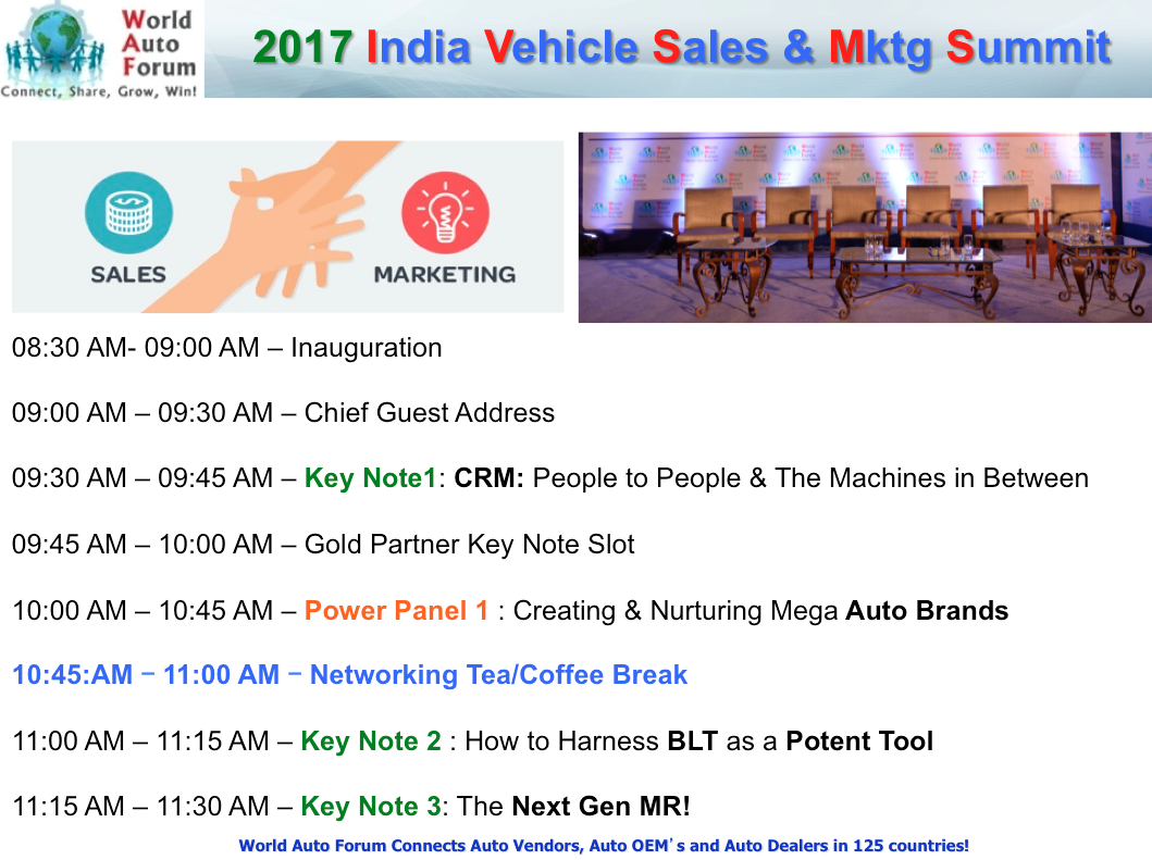 Ivsms india vehicle sales and marketing summit by world for Advertising sales companies