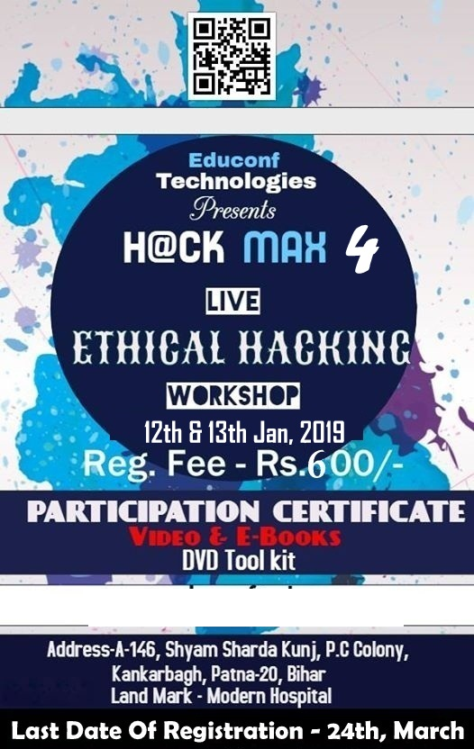 Ethical Hacking Workshop In Patna HackMax 4 | MeraEvents com