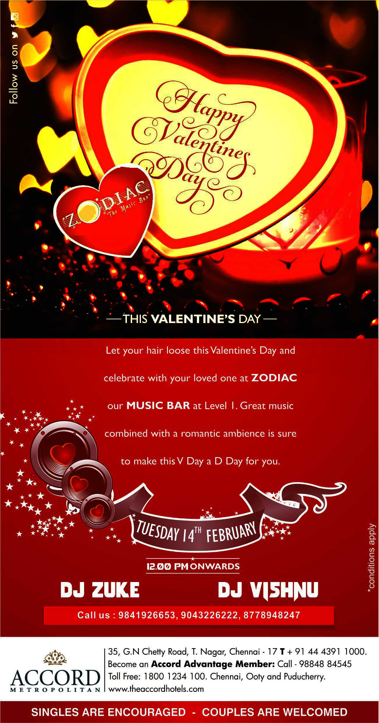 Valentines Day Feb 14 Afternoon Party Chennai Meraevents Com