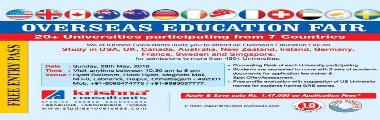 Overseas Education Fair 2016 At Raipur