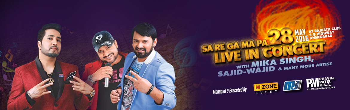 Book Online Tickets for Sa Re Ga Ma Pa live in concert at Rajpat, Ahmedabad. Zee TV\'s \'Sa Re Ga Ma Pa\', the first singing talent hunt show on Indian television has been instrumental in introducing the country to some of its demigods of music - Shreya Ghoshal, Kunal Ganjawala, Shekhar Ravjiani, Bela Shende, Sanjivani and Ka