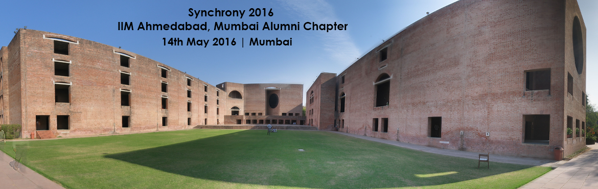 "Book Online Tickets for Synchrony 2016, IIMA Alumni Mumbai , Mumbai. IIMA Alumni Association (Mumbai Chapter) Synchrony 2016    Dear Friend    ""We thank you for your interest in joining us at ""Synchrony 2016"".    We are constrained to close the Registration since the venue ca"