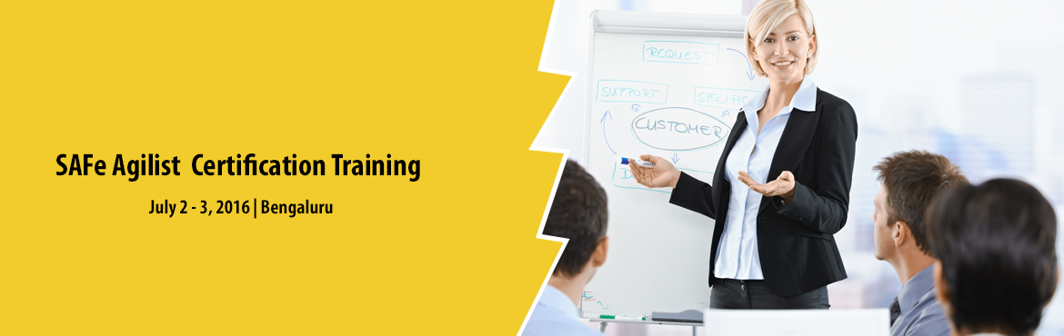 Book Online Tickets for SAFe Agilist (SA) Training | Delhi-NCR, NewDelhi.   SAFe Agilist (SA) Training; @Delhi-NCR Date: 2-3 July, 2016   Venue: TBD   SAFe Agilist Certification Mostly in every organization, the Agile journey starts with a small team, and once there is achievement in the venture, the ba