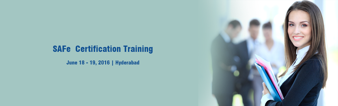 Book Online Tickets for SAFe Agilist - Hyderabad - June 18-19, Hyderabad.     The SAFe Agilist certification program is for executives, managers and Agile change agents responsible for leading a Lean|Agile change initiative in a large software enterprise. It validates their knowledge in applying the Scaled Agile