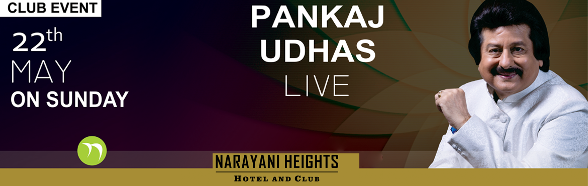 Book Online Tickets for Pankaj Udhas Live, Ahmedabad. The man with the golden voice, none other than Padma Shri Pankaj Udhas, will be live on Sunday, 22nd May 2016 in the party Lawns of Narayani Heights, Bhat, Ahmedabad-Gandhinagar. Head over and experience the glory of Pankaj Udhas\'s mellifluous voice