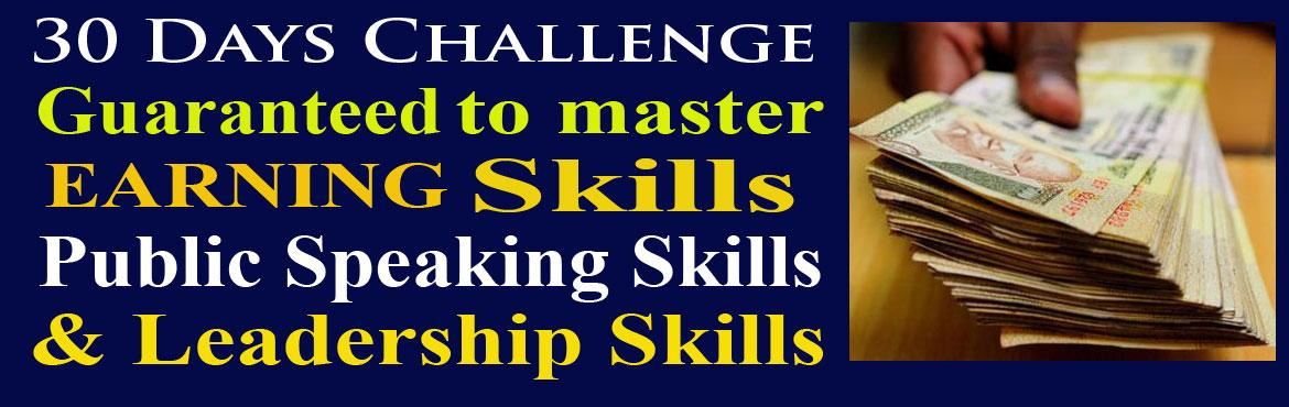 30 days challenge  to Master Earning Skills in 30 days