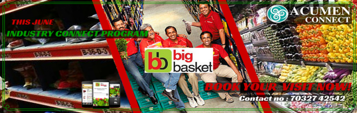 Book Online Tickets for INDUSTRIAL VISIT TO BIG BASKET, Hyderabad. BigBasket (Innovative Retail Concepts Private Limited) is India's largest online food and grocery store. With over 18,000 products and over a 1000 brands in our catalogue you will find everything you are looking for. Right from fresh Fruits and