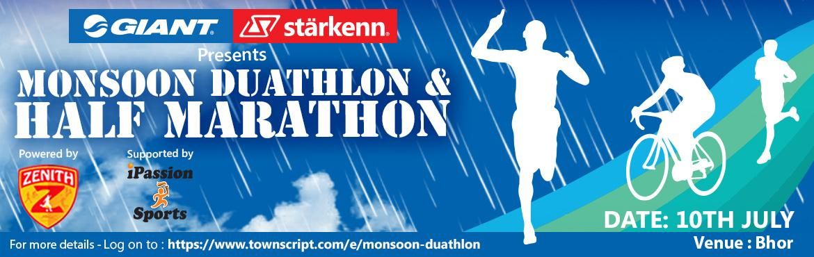Book Online Tickets for  Monsoon Duathlon and Half Marathon, Pune.   Zenith Sports Services presentsMonsoon Duathlon About The EventDate – 10th July, 2016Venue – Natambi, Bhor, Punr  DUATHLON CATEGORIES (Only MTB and Hybrid bikes Allowed, No road bikes allowed.) • Olympic Solo – Includes 10 K