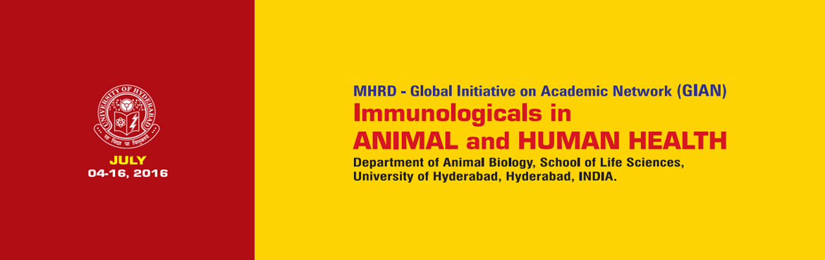 Book Online Tickets for Immunologicals In Animal And Human Healt, Hyderabad. Therapeutics based on harnessing the immune system is now a $230 billion industry globally. These therapeutics stems from the promise of using the specific antibodies formed for diagnostics and therapeutics purposes. The antibodies, or Immunologicals