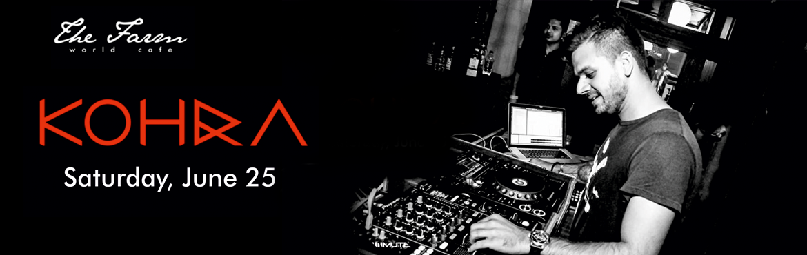 Book Online Tickets for DJ KOHRA at The Farm World Cafe, Hyderabad.  Kohra is the deep, hypnotic and often grungy mirror image of Madhav Shorey. Raw analog signals and lush soundscapes mixed with percussion sounds and sharp glitches is what can be heard through his mysterious productions. A style that is intelligent