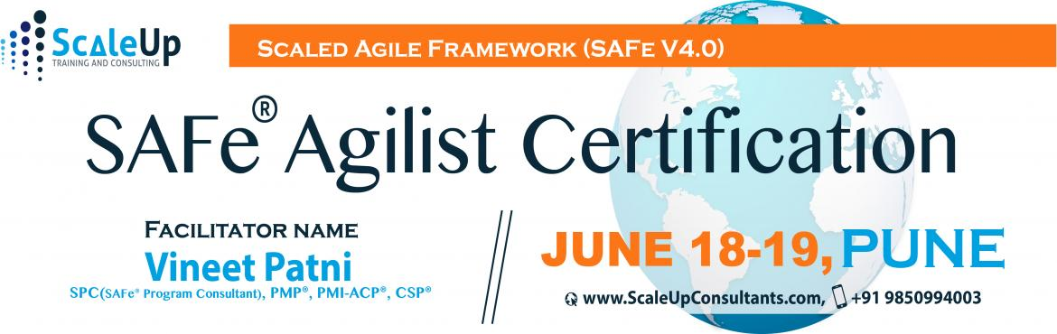 The SAFe Agilist certification is specially designed for agile leaders, project, program and portfolio managers who work in a scaled agile setup.