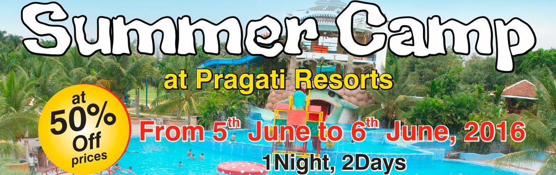 Book Online Tickets for Summer Camp at Pragati Resorts , Hyderabad.