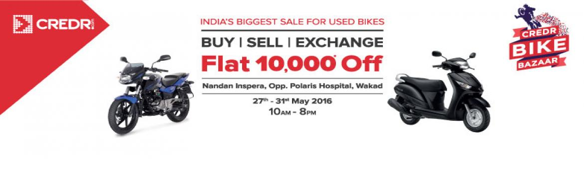 Book Online Tickets for Biggest Sale for Used Bikes, Pune.