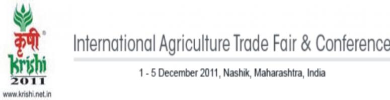 Book Online Tickets for KRISHI 2011, Nashik. Welcome to the 7th edition of Krishi Agriculture Technology Fair & ConferenceKrishi – Agriculture Technology Fair and Conference which is being organized since 1998 has evolved a balanced relationship between farmers and technology sav